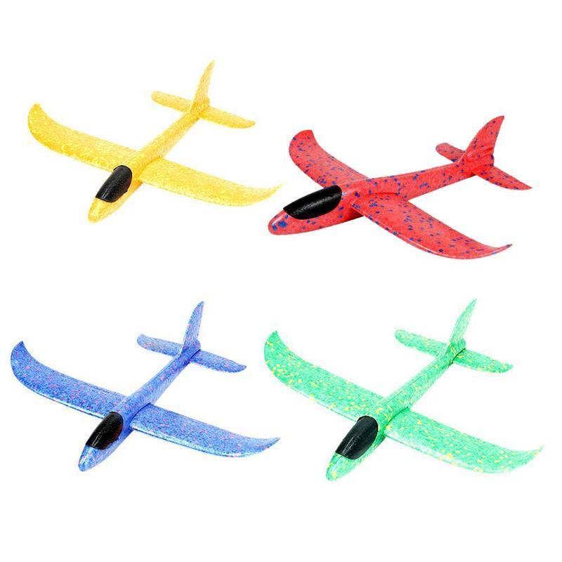 37cm Foam Plane Airplane Toys Hand Throw Epp Launch Glider Flexible Plane Kids Gift Toy Free Fly Airplane Puzzle Model Toy
