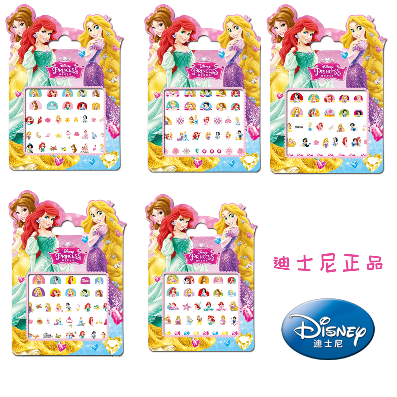 Genuine 5 Pcs Disney Snow White Princess Makeup Toy Nail Stickers Toy Disney Princess Girls Kids Sticker Toys For Girls Gifts