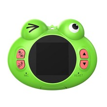 Digital Camera For Kids,Cute Cartoon Frog Design Portable Compact Anti-Shake Rechargeable With Games Diy Video Effects Kids Came(China)