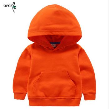Wiosna jesień Hot sprzedaży swetry chłopcy dziewczęta sport moda rozrywka płaszcze z długim rękawem topy ubrania dla dzieci cukierki 8 kolory tanie i dobre opinie OFCS Na co dzień COTTON Poliester Pasuje prawda na wymiar weź swój normalny rozmiar Unisex Stałe Bluzy Pełna REGULAR