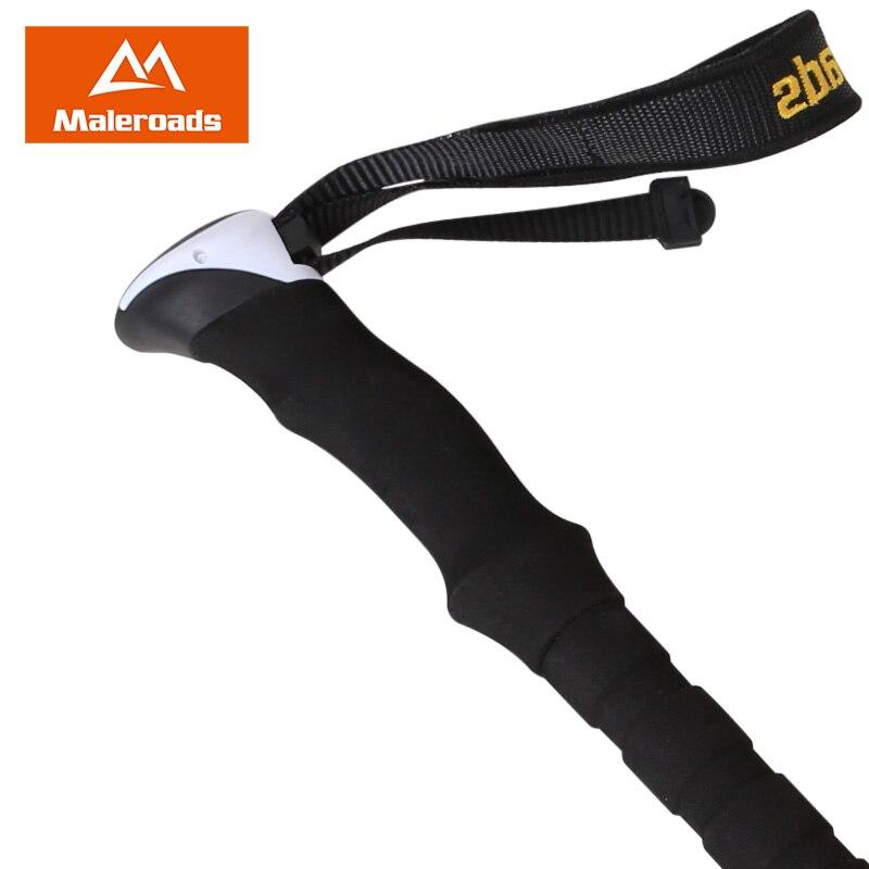 alpenstock ajustavel fibra de carbono vara de 02
