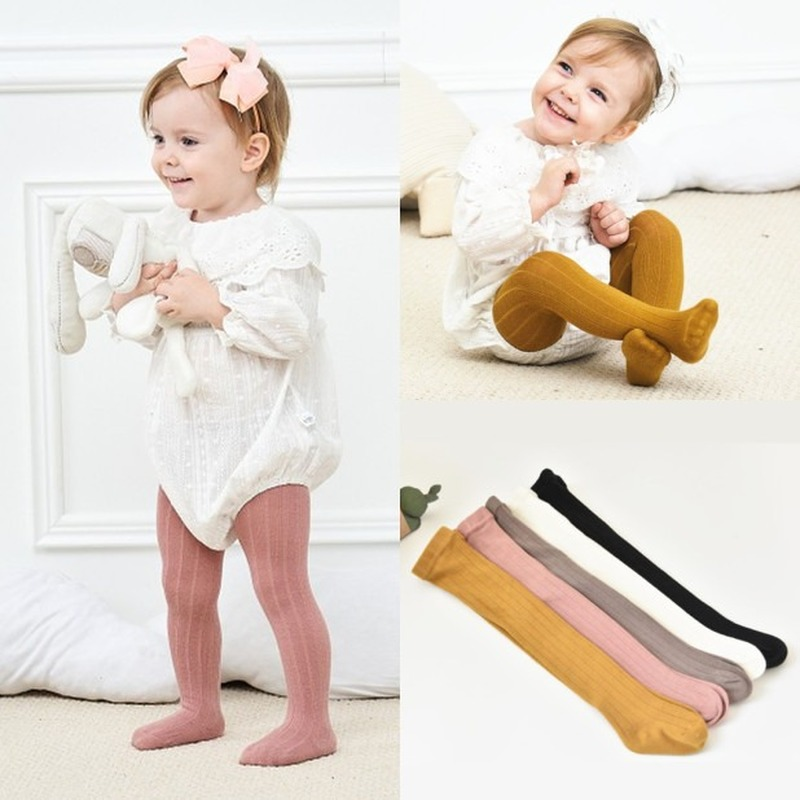 Children Tights Baby Infant Clothing Cotton Girl Pantyhose Kid Infant Knitted Collant Tights Autumn Toddler Stockings