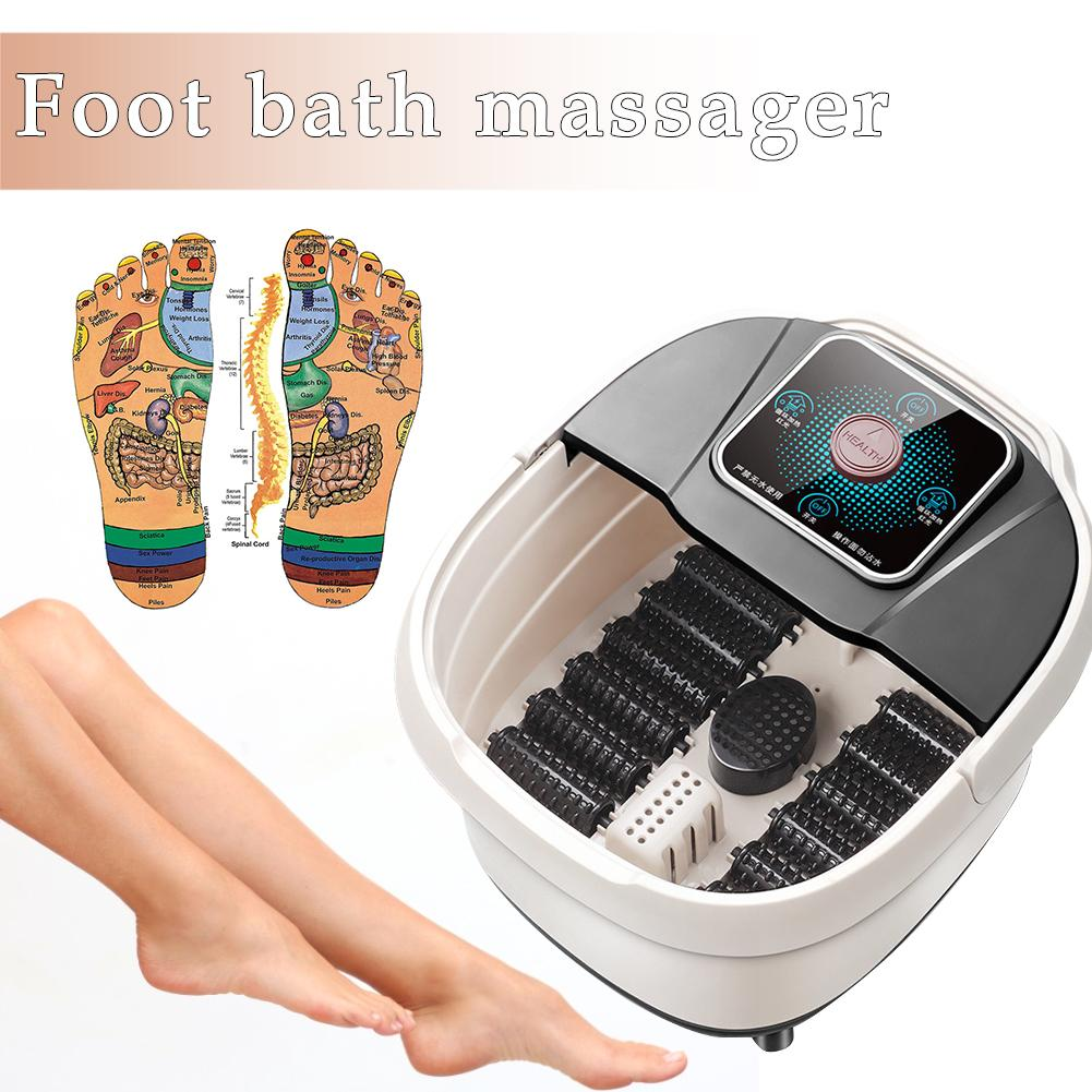 Foot Spa Bath Massager  Foot Massage Tub SpaElectric Heating Thermostat Bubble Foot Advanced Home Pedicure Machine Barrel