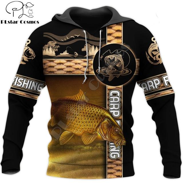 Carp fishing hoodie unisex stripes