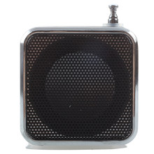 TD-V26 Portable Mini Speaker with Digital and Micro SD / TF / USB / FM - Black(China)