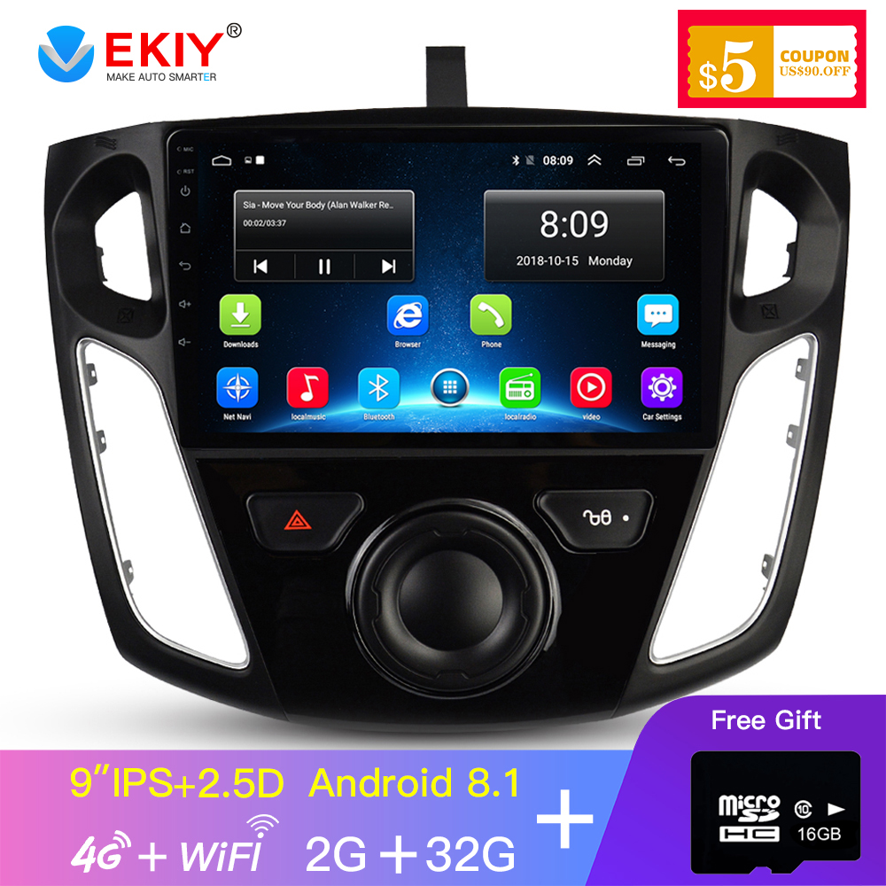 EKIY Video-Player Car-Radio Car Multimedia Gps-Navigation Focus 4g-Modem Android