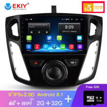 EKIY 9 ''IPS Auto Multimedia Video Player GPS Navigatie Android Auto Radio Voor Focus 3 2012-2015 Hoofd unit Met 4G Modem(China)