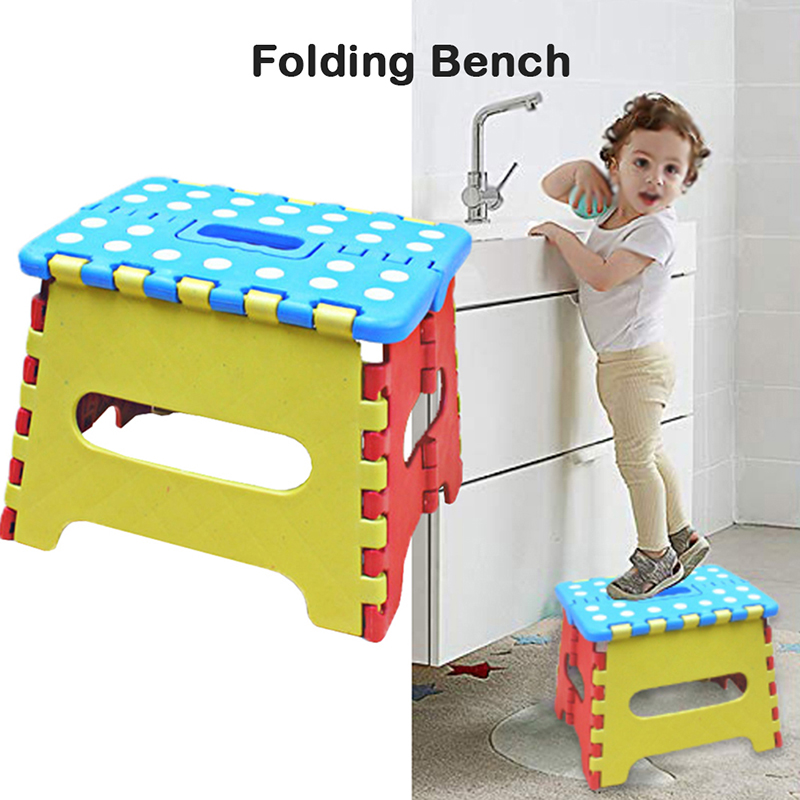 New Multifunction Children Kid Safety Folding Stool Outdoor Activity Home Traveling Necessity House Supplies Furniture Dot Chair