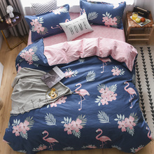 Pink Flamingo Duvet Cover Set Bedding with Pillowcases Single Queen Size Bed linen 3pcs home textiles