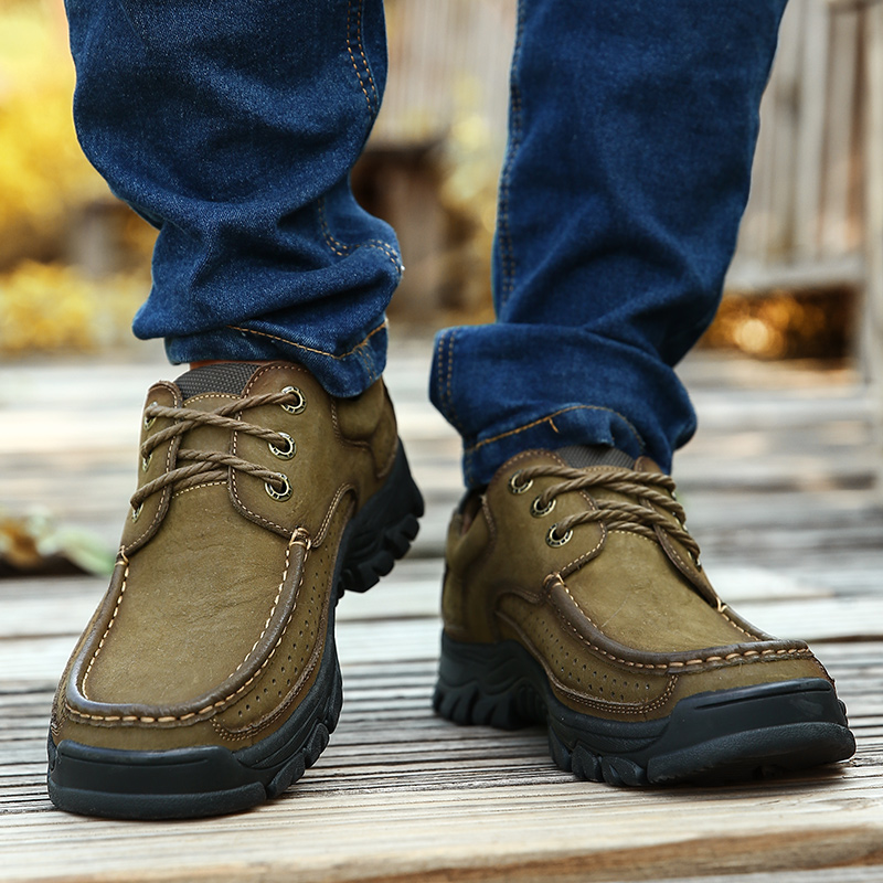 Hf84279b298b14850af5c2c61733906a7H High Quality 2019 New Men Comfortable Sneakers Waterproof Shoes Leather Sneakers Fashion Casual Shoes Male Plus Size 38-48