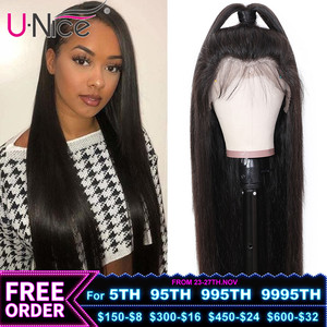 Unice Hair 13*4 Brazilian Straight Glueless Lace Front Human Hair Wig With Baby Hair Pre Plucked 5x5 HD Lace Closure Wig Women