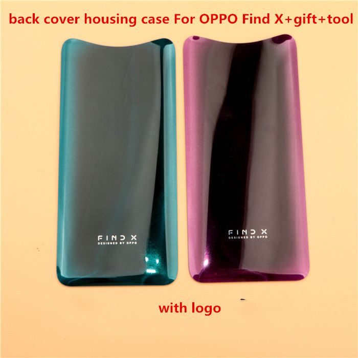 100%new NEW  6.42 Inch For Oppo Find X Back Battery Cover Door Housing Case For Oppo Find X  Replacement (  With A Face Masks)