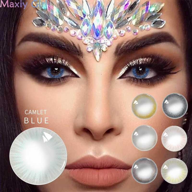 2 sztuk/1 para kolor uroda uczeń soczewki kontaktowe oko na imprezę panie Sexy kosmetyczne miękkie soczewki makijaż Yealy użytkowania