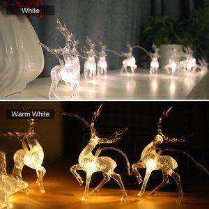 Image 4 - Рождественская гирлянда Sika в виде оленя, светодиодная гирлянда с батарейным отсеком, праздничное украшение, гирлянда для дома, фестиваля, улицы, рождевечерние