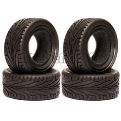 NEW ENRON 68MM Rubber Tyres Tires 4PCS 1/10 RC Car On Road Racing For HSP HPI Redcat Tamiya Kyosho SAKURA