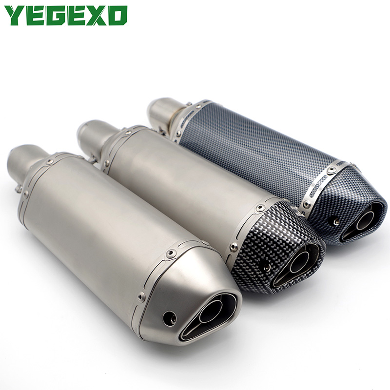 51mm motorcycle exhaust escape moto motocross muffler for yamaha raptor 350 yz 125 tzr 50 drag star 400 xmax 125 tdm 850 dt 125