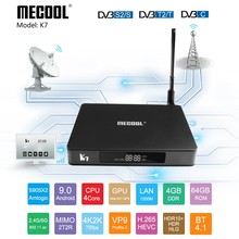 Mecool K7 TV Box Amlogic S905X2 DVB T2 DVB S2 DVB C 4GB DDR4 ROM 64GB Android 9.0 dual Wifi Màn Hình Hiển Thị LED Ăng Ten Set Top Box(China)