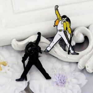 Новое поступление 2020, эмалированные булавки и броши Queen Freddie Mercury для женщин и мужчин, булавка для лацкана, рюкзака, сумки, шляпы, значок, подарок для фанатов|Броши|   | АлиЭкспресс