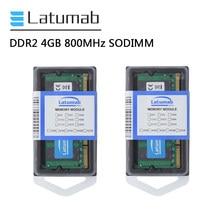 Latumab RAM DDR2 4GB PC2-6400 8GB 800mhz de Memória Portátil SODIMM Memória RAM 1.8V 200 Pinos do Módulo de Memória RAM Notebook