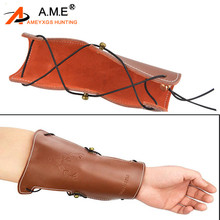 Archery Arm Guard Leather Forearm Guard Straps Gear Protector for Traditonal Bow Hunting Shooting Hunting Accessories