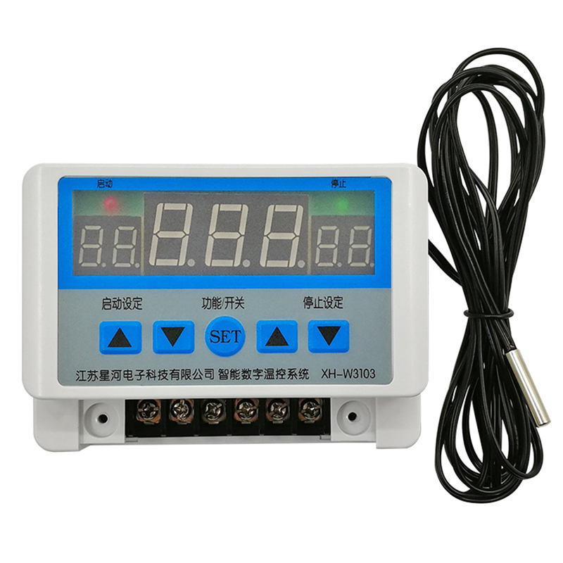 High Power Digital Display Wall Mount Temperature Controller Thermostat 30A Contact 5000W