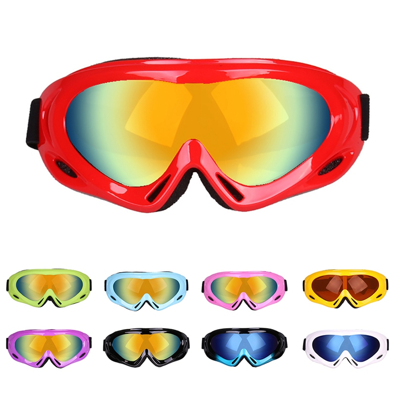 Winter Snowboard Ski Goggles Dustproof Military Glasses Cycling Goggles Single Layer Windproof Eyewear For Adult Children