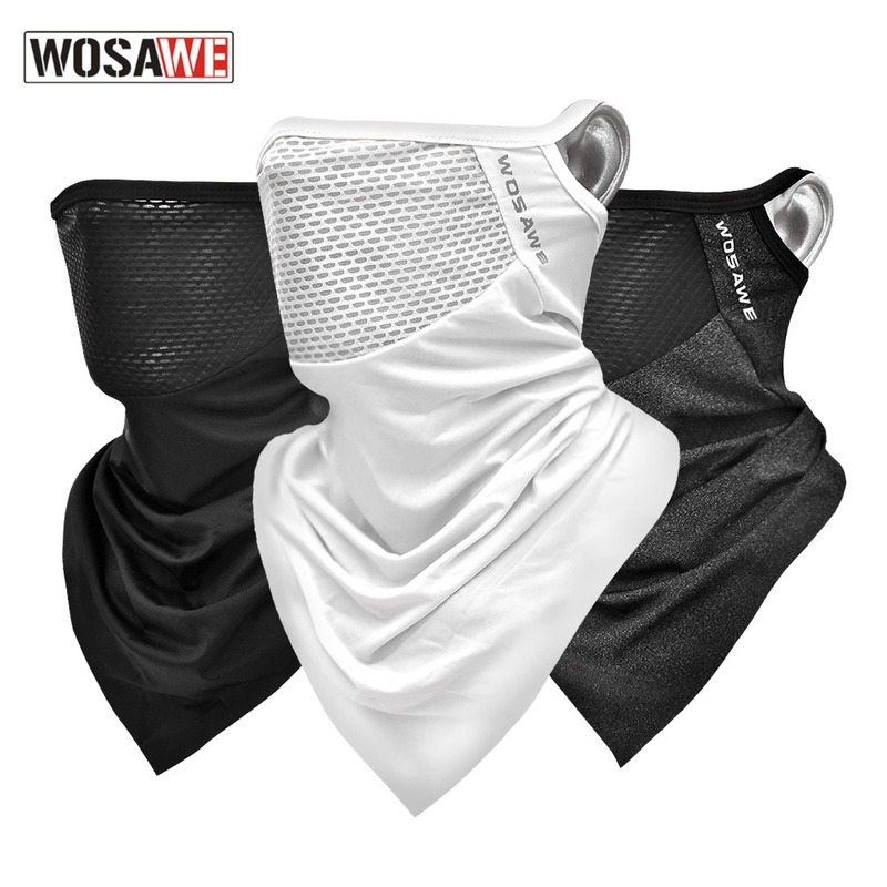 Men Women Viscose Fiber Cycling Face Coverings Sunscreen Breathable Triangle Face Cover MTB Bike Outdoor Sports Face Mask Scarf