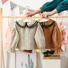 Kids Tops Shirts Clothing Blouse Long-Sleeve Girls Toddler Korean-Style Princess Cotton