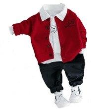 Clothing Kids T-Shirt-Pants Suits Jacket Spring Autumn Baby-Boys-Girls 3pcs/Sets Cotton