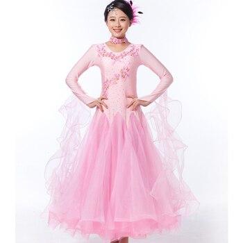 цена standard ballroom dress Modern Dance Dress New National sale women Friendship Dress Waltz tango foxtro Practice Long Dress онлайн в 2017 году