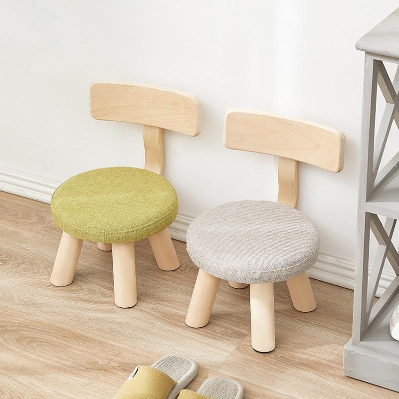 Children's Bench Small Chair Cartoon Cute Stool Family Solid Wooden Stool Kindergarten Small Bench Minimalist Modern Furniture