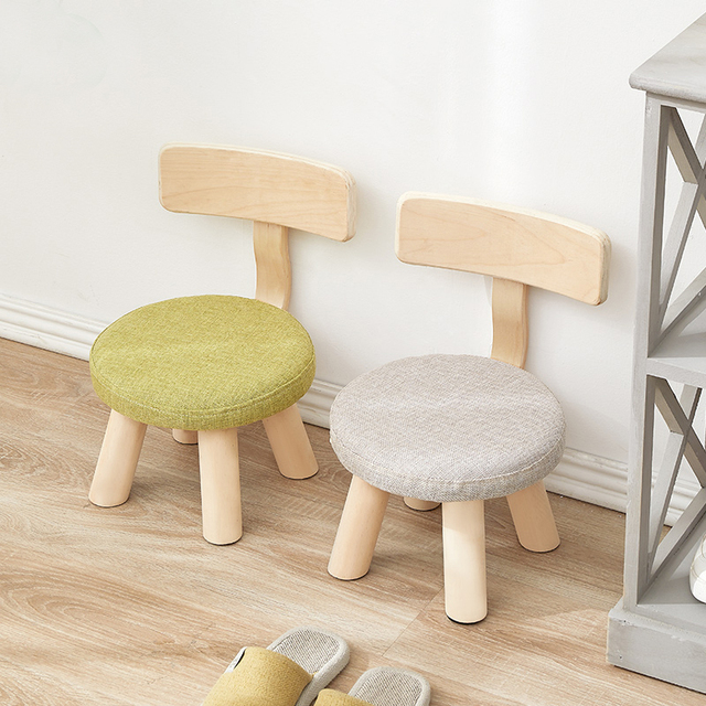 Children S Bench Small Chair Cartoon Cute Stool Family Solid Wooden Kindergarten Minimalist Modern Furniture