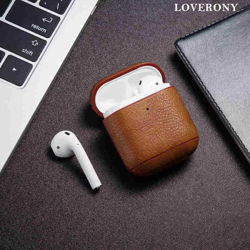 LOVERONY кожаный чехол для наушников в винтажном стиле с Bluetooth для AirPods 2 1, защитная крышка для ключей, чехол для зарядки Air pods Coque