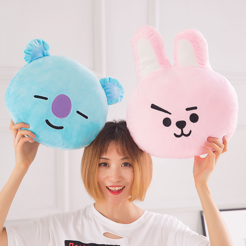 Korean-Style BTS Plush Toy Pillow BT21 Related Doll Women's Birthday Gift Wholesale