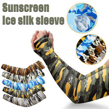 1 Pair Arm Sleeves Summer Sun Protection Ice Cool Cycling Running Fishing Climbing Driving Arm Cover Warmers for Women#0602SY30(China)