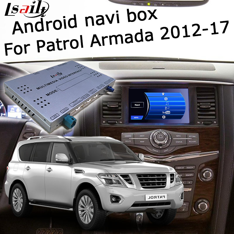 Lsailt Android GPS Navigation System Box For Nissan Patrol Armada Y62 2012-2017 High End, With Pathfinder Quest Elgrand 370z Etc