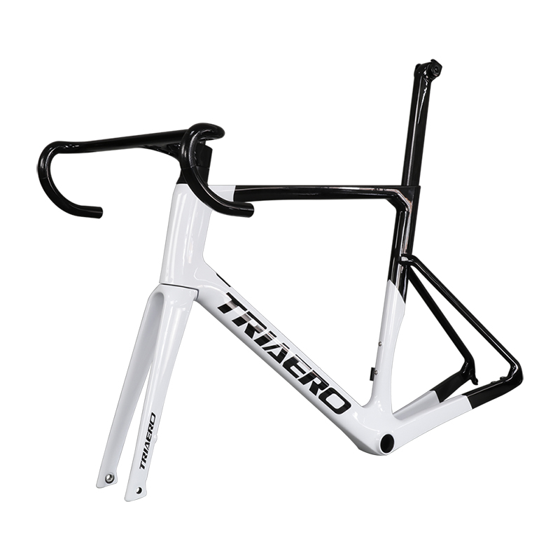 2019 Professional Racing AERO Frame Carbon Road Disc Brake Frame With Black And White Glossy