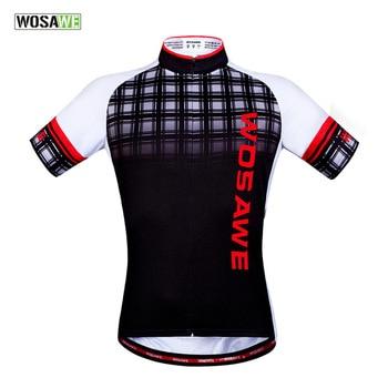 WOSAWE MTB Cycling Motorbike Jersey Racing Bicycle Shirts Summer Cycling Clothing Quick-Dry Short Sleeve Bike Motorcycles Tops недорого