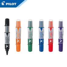 Pilot WBMAVBM Bolígrafo de pizarra de gran capacidad, cabezal redondo, tamaño mediano, Negro/azul/rojo/naranja/Verde/púrpura, 3 uds.