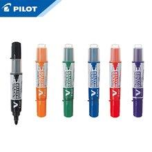 Stylo de tableau blanc WBMAVBM, 3 pièces de pilote, support à tête ronde, en noir, bleu, rouge, orange, vert et violet, grande capacité
