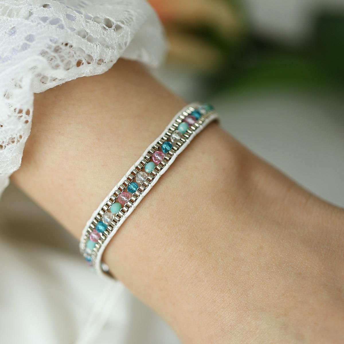 Boho style push pull Bracelet Braided Cloth Bracelet Jewelry Gift Boho Fashion Bohemian Chain Jewelry Cloth Fabric Bracelets