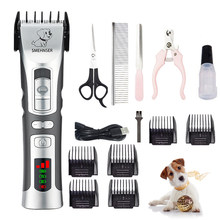 Cortador de cabelo para animais estimação d2 alta potência profissional elétrica pet cat clipper grooming trimmer animais corte de cabelo máquina cortador de animais