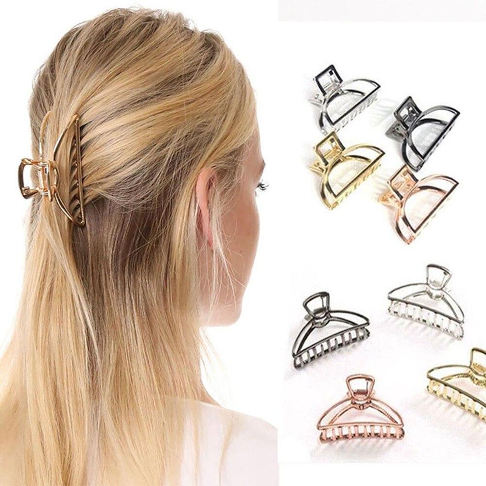 1PC-Solid-Color-Retro-Women-Hair-Claw-Hair-Crab-Moon-Shape-Hair-Clips-Girls-Make-UP
