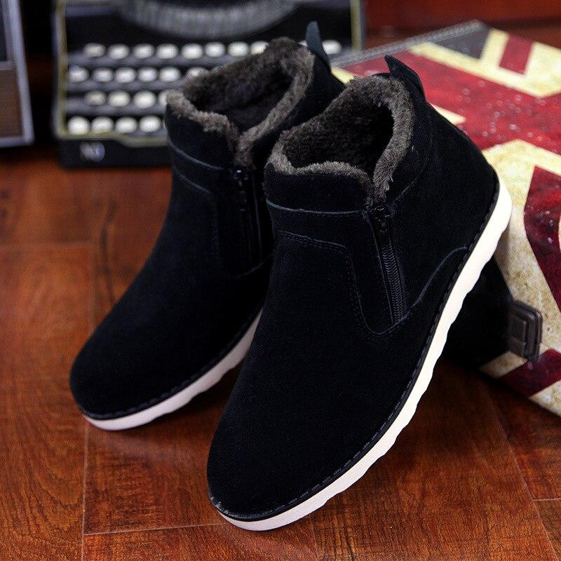2019 Men Winter Snow Boots Fur Boots Men Casual Shoes Plush Men Outdoor Work Shoes Plus Size