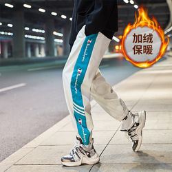 2019 Winter New Style Athletic Pants Men's plus Velvet xi ha ku Fashion COUPLE'S Trousers