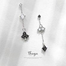 Женские серебряные серьги подвески thaya сережки с кристаллами