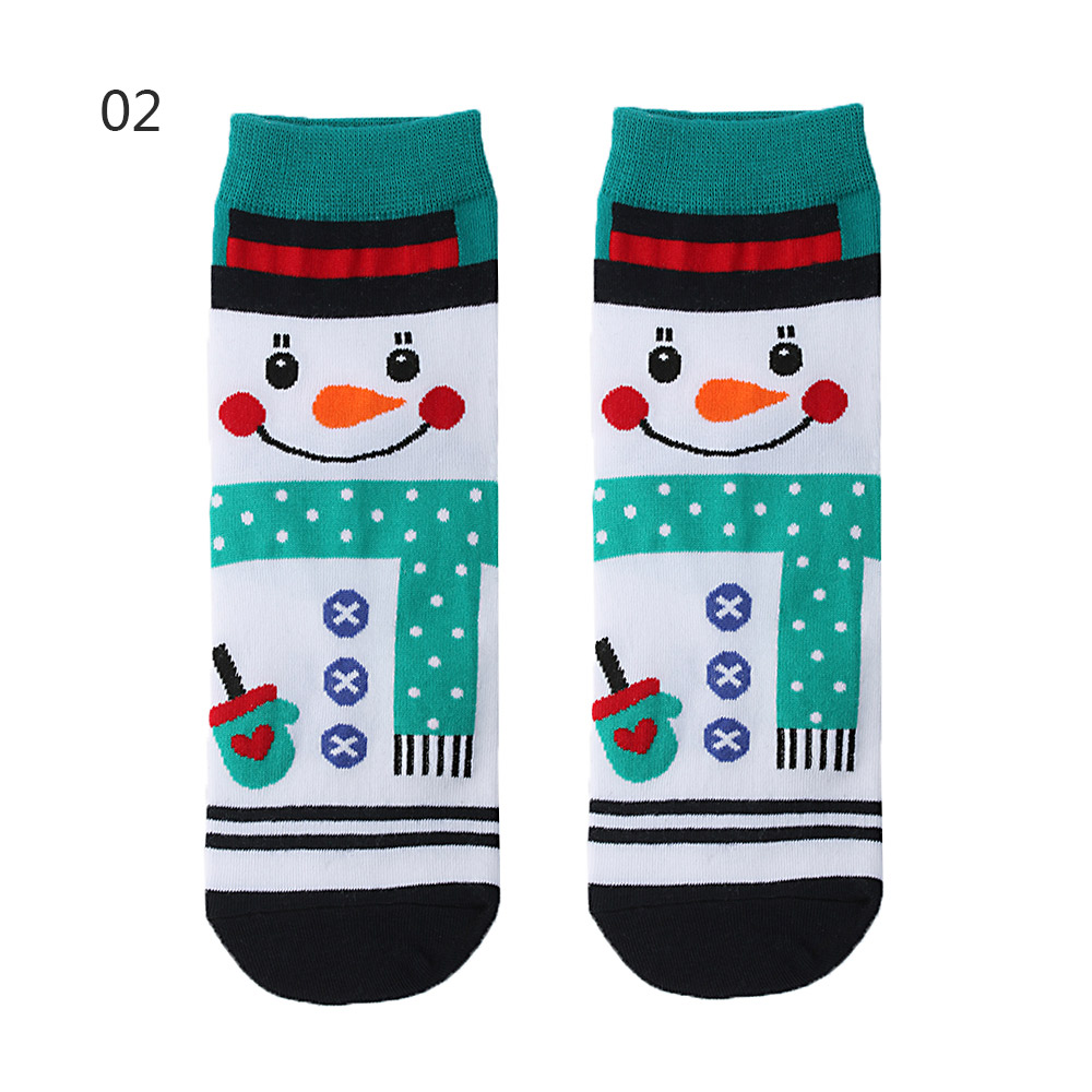 Hf8449fed074347999d805db60e535786C - 1pair Fashion Christmas Socks Women Cartoon Funny Cute Winter Female & Hosiery Cotton Square Foot Personality Socks Harajuku
