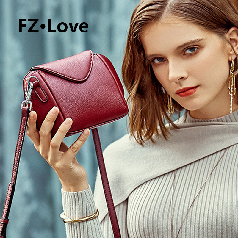 Stylish Mini Crossbody Bags Genuine Leather Shoulder Bag Purses for Women Small Ladies Handbags Messenger Bags Flap Shell Bags