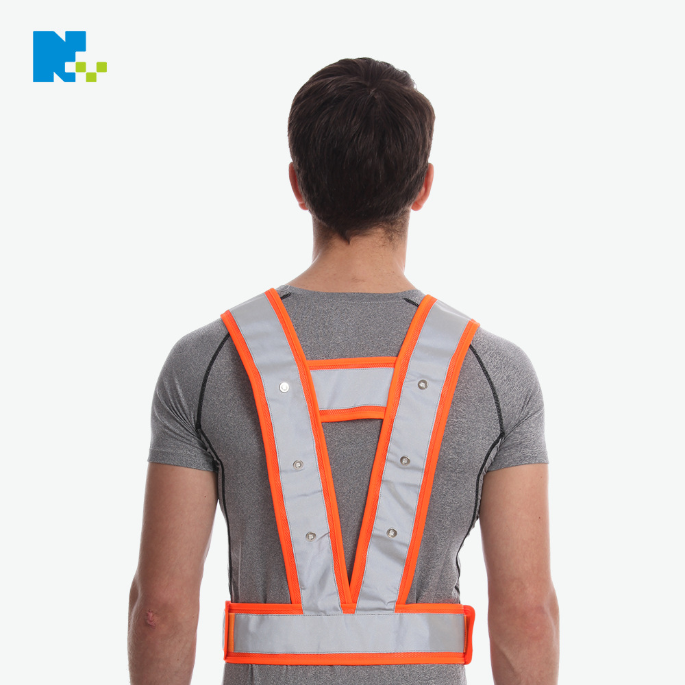 Factory Customizable Production LED Light-emitting Vest Outdoor Road Work Warning Reflective Clothing Traffic Reflective Vest