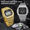 Pasek ze stali nierdzewnej Metal Watchband Bezel dla DW5600/5610/5035 seria GW5000 G-5600E GWX-5600 zestaw diament Bezel/Case z narzędziem